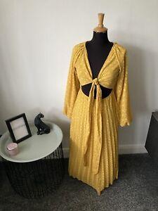 ASOS Gypsy Maxi Dress Size 8 - Ochre Yellow