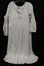 VINTAGE LAURA ASHLEY Cotton Nightgown, Pastel Paisley & Floral Print, Womens