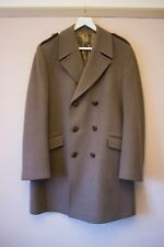 Vintage Mens Debenhams brown Military Style 100% Wool winter Coat 40 42 L