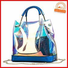 Damen Handtasche Transparent Hologram Laser Jelly Schultertasche
