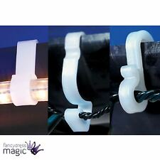 Gutter Hooks Clips Outdoor Christmas Xmas Icicle Rope Fairy Lights White Plastic