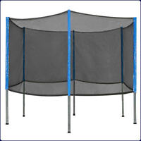 Six Poles New 15'FT Trampoline Replacement safety NET ENCLOSURE+6 POLES combo