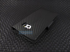 FOR SAMSUNG GALAXY S 6 S6 EDGE BLACK CARBON FABRIC FLIP JACKET WALLET CASE COVER