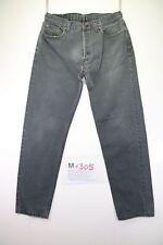 Levi's 614 (Cod. M1305) tg 50 W36 L34 jeans levis Nero vita bassa usato vintage