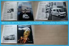 Mercedes 207 D Wohnmobil Literaturpaket - 3 komplette Zeitschriften