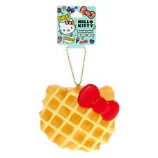 Hello Kitty Waffle Squishy Girl's Keychain Charm Gold Chain One Size New