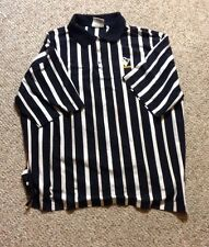pitsburgh penguins vintage lee sport polo mens xxl referee like shirt collar 2xl