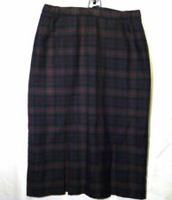 Calf Length Pleated, Kilt Check Regular Skirts for Women