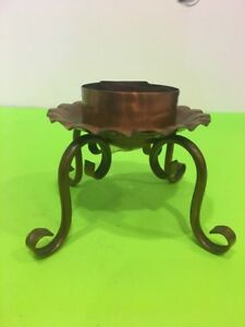 Vintage Gregorian Solid Copper Footed taper Candle Holder USA