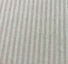 Dublin Pinstripe French Linen Fabric in Rouge 280cm Wide Double Width