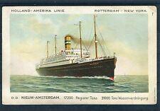 Ansichtskarte Holland-Amerika Linie Rotterdam-New York - 00940