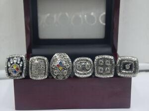 1974 1975 1978 1979 2005 2008 Pittsburgh Steelers World Championship Ring //--