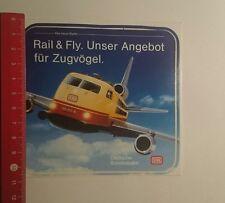 Aufkleber/Sticker: Deutsche Bundesbahn Rail & Fly (08121655)