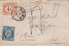 Lettre n°60 Timbre Taxe Italien pour Rome Italy Cover