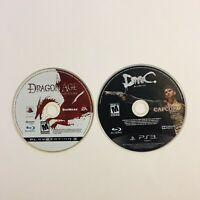 PS3 Game Lot Dragon Age Origins Devil May Cry 1 Playstation 3 Discs Only Tested!