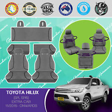 FOR TOYOTA HILUX EXTRA CAB 11/2015- ON CANVAS WATERPROOF TAILOR MADE SEAT COVERS