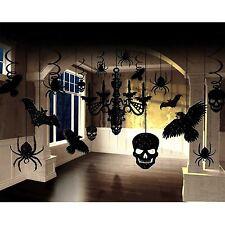 17 Piece Scary Halloween Decoration Horror Gothic Glitter Chandelier Party Set