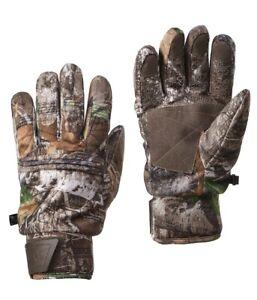 Realtree Edge Camo Adult Heavyweight Microban Heat Retention Gloves: M - L/XL