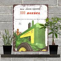 "1958 JOHN DEERE TRACTOR  830 DIESEL Man Cave Metal Sign 9x12"" 60668"