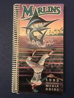 1993 Inaugural Marlins Media Guide MLB History Retro Vintage Rare Miami Florida
