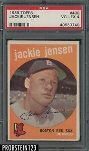 1959 Topps #400 Jackie Jensen Boston Red Sox PSA 4 VG-EX
