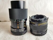 Tamron SP 90mm f2.5 Macro Lens with the External Tube in Canon FD Mount.