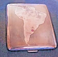 Sterling Silver Ruby WALSER WALD & CO Cigarette Case Argentina Map 1939