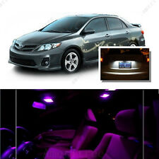 For Toyota Corolla 2003-13 Pink LED Interior Kit + Xenon White License Light LED