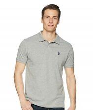 U.S. Polo Assn. 171191 Mens Short Sleeve Jersey Polo Shirt Grey Size Medium