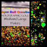 MEDIUM&LARGE FLAKES~Holographic Gold~Nail Art•Face•Festival•Crafts
