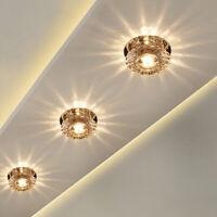 Modern LED Crystal Aisle Lamp Ceiling Light Fixture Chandelier Hall Room Hallway