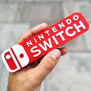 Nintendo Switch 3D logo / shelf display / fridge magnet - gaming collectible