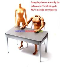 """New 1/6 Scale Furniture Table & Silver Chair For Barbie Doll & 12"""" Action Figure"""