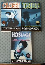 3 TSPB in Todd Mills Mystery series by R.D. Zimmerman~Closet/Tribe/Hostage