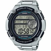Casio AE3000WD-1AV, World Time Digital Watch,5 Alarms, 100 Meter WR, Chronograph