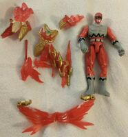 Power Rangers Lost Galaxy Conquering Red Ranger Action Figure w/ Armor Pieces