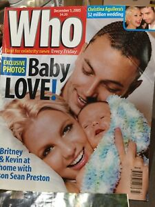 Who Mag 2005 With Britney On The Front With Baby Sean