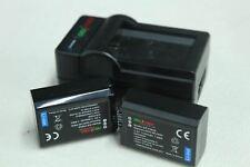 CHILI POWER Sony Alpha NEX SLT Cybershot 2x Battery & Dock Charger Bundle NEW