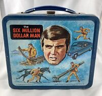 Vintage THE SIX MILLION DOLLAR MAN Aladdin Metal LUNCH BOX no THERMOS 1974