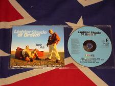 LIGHTER SHADE OF BROWN - hey d.j.  4 trk MAXI CD 1994