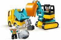 Lego Duplo Ville Chantier 10931 Pelleteuse Et Laster Véhicule de Set Jouets