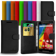 Custodia Case Flip Cover Pelle Portafogli Libro Anukku Per Motorola Moto G 2014