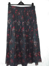 vintage Laura Ashley long very full pleated skirt cotton &  wool 14