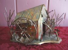 "RECYCLED METAL SCULPTURE MUSIC BOX: PLAYS ""MOON RIVER"""