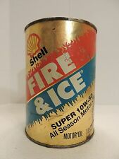 Vintage Shell Fire and Ice All Season Motor Oil Super 10W-50, Unopened/Full Can
