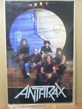 ANTRAX  Poster rock heavy metal 1990 Group vintage Inv#G1507