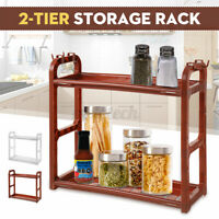 2-tier Storage Holder Rack Kitchen Bathroom Spice Jar Bottle Shelf Organiser