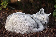 sculpture en pierre CHATS Klara dormant figurine de jardin