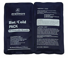 2 x Reusable Hot Cold Pack ice cool heat gel therapy compress wrap microwave new