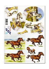 3D Motivbogen Etappenbogen Bastelbogen Grusskarte Pferd Pferde (101)